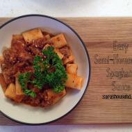 Easy Semi-Homemade Spaghetti Sauce with Rigatoni