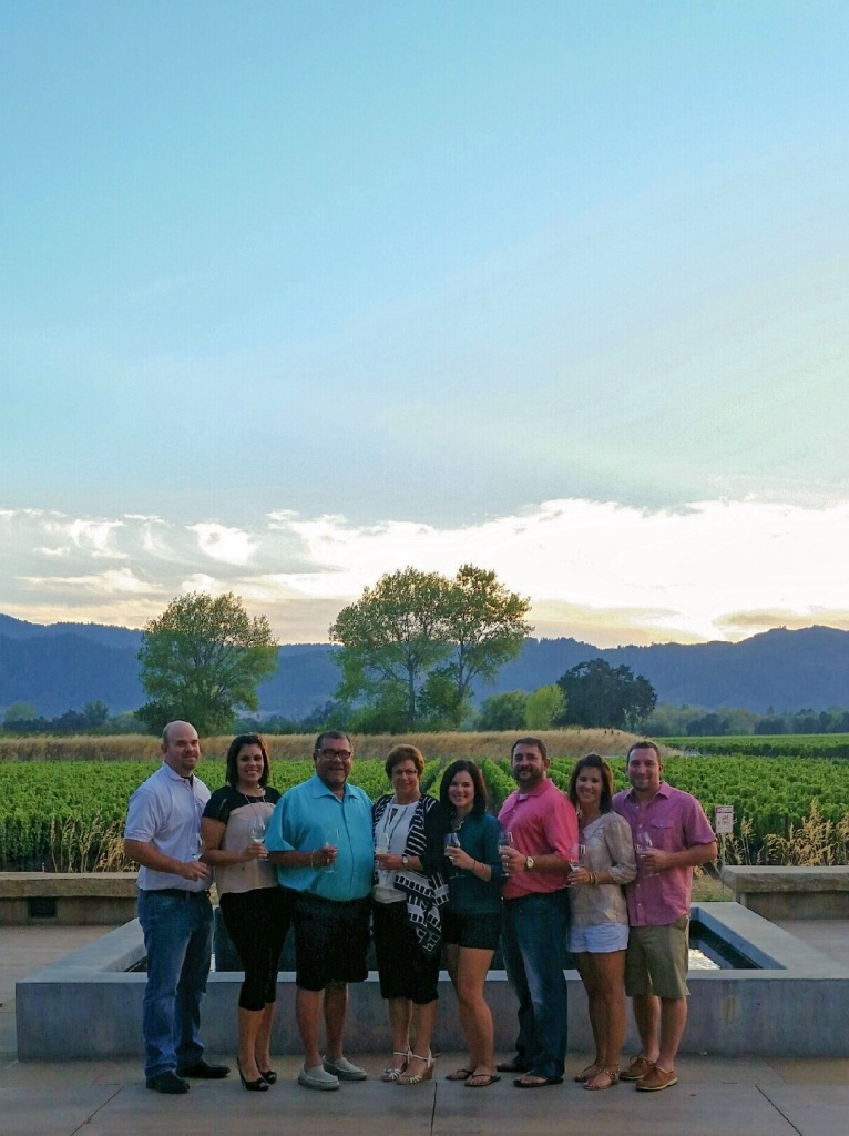 Family at Silver Oak Winery in Napa Valley