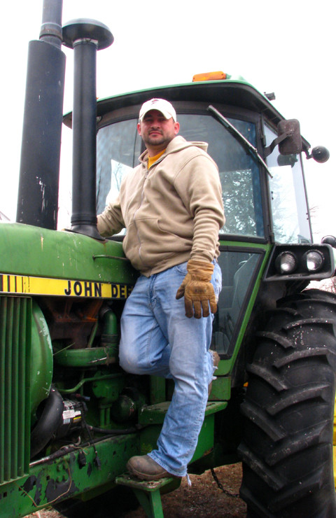 Kevin with John Deere Tractor