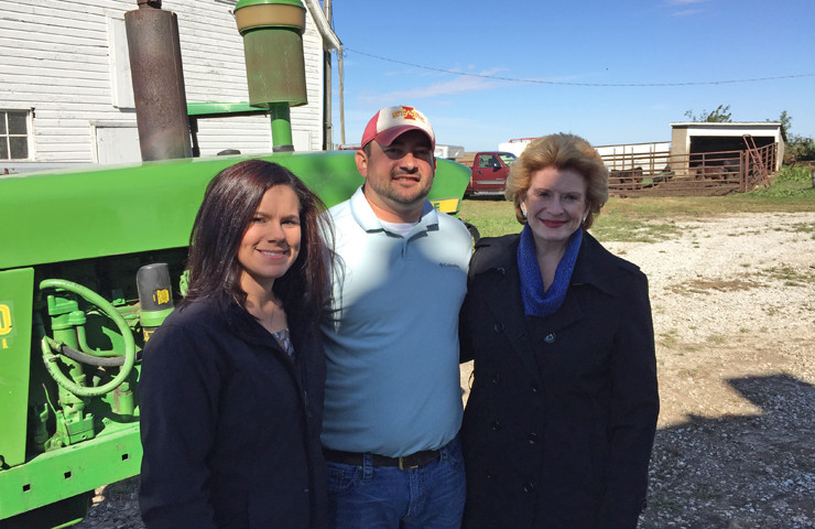 Senator Stabenow on Farm Tour