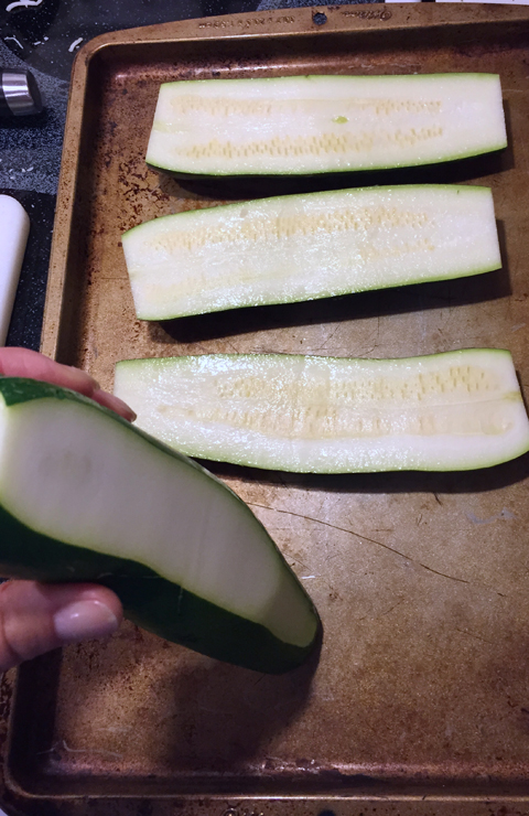 Zucchini for Healthy Pizza Boats-www.saras-house.com