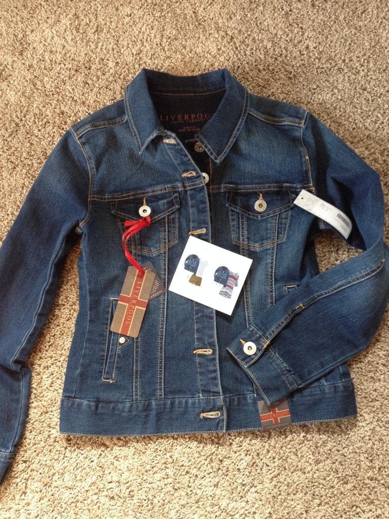 Liverpool Jalie Denim Jacket-Stitch Fix #6 Review on @sarashousehd