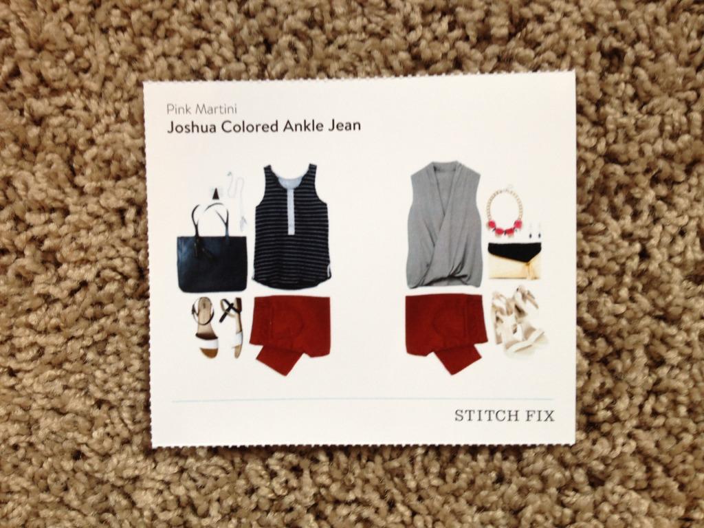 Idea Card-Pink Martini Joshua Colored Ankle Jean-Stitch Fix #6 Review @sarashousehd