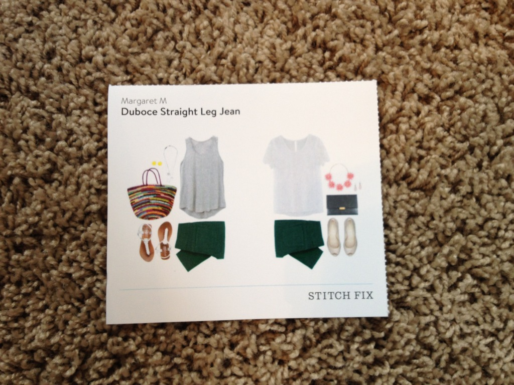 Idea Card-Margaret M Duboce Straight Leg Jean-Stitch Fix Review #6 @sarashousehd