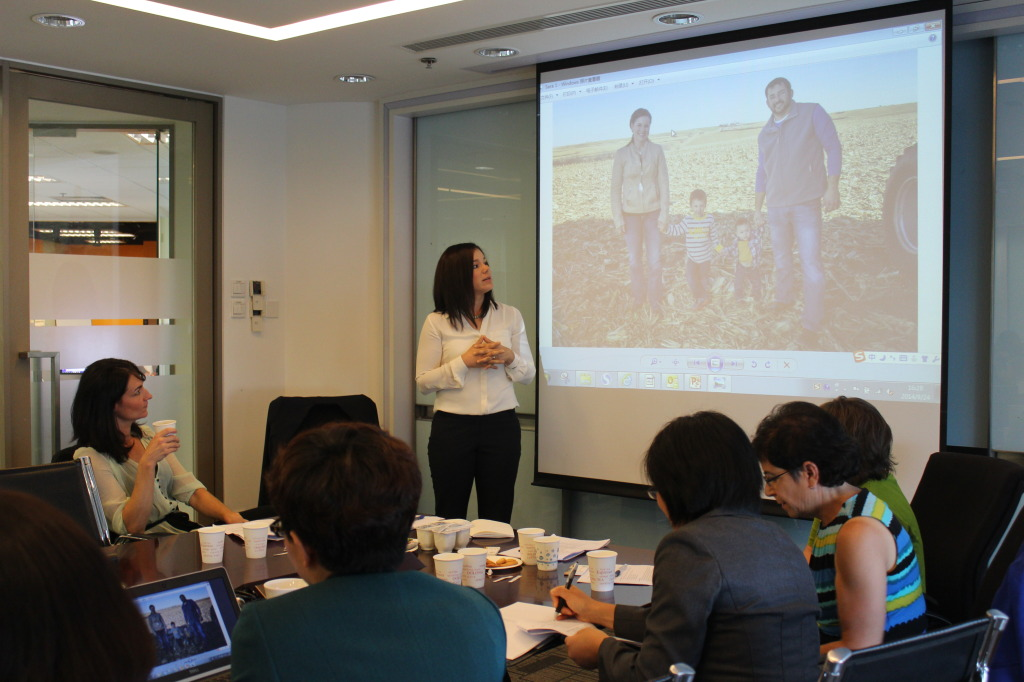 Giving GMO presentation in China