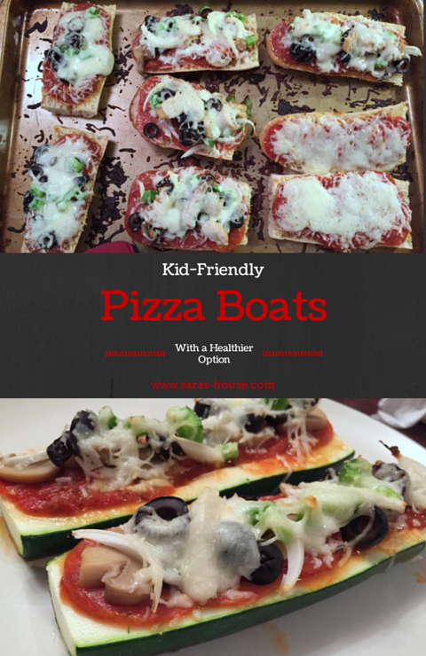 Kid-Friendly Pizza Boats with a Healthier Option - www.saras-house.com