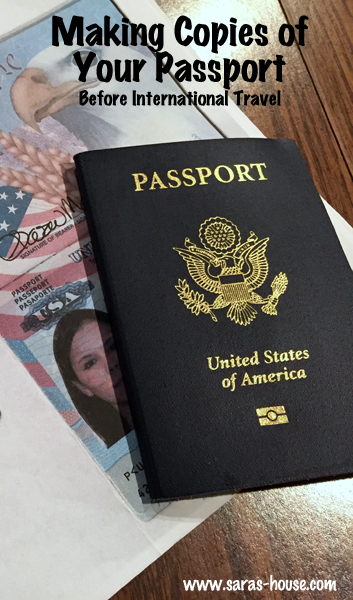 Make Passport Copies Before International Travel