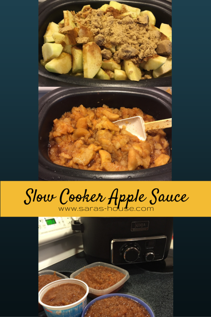 Slow Cooker Apple Sauce @ninjakitchen #slowcooker #nationalapplemonth