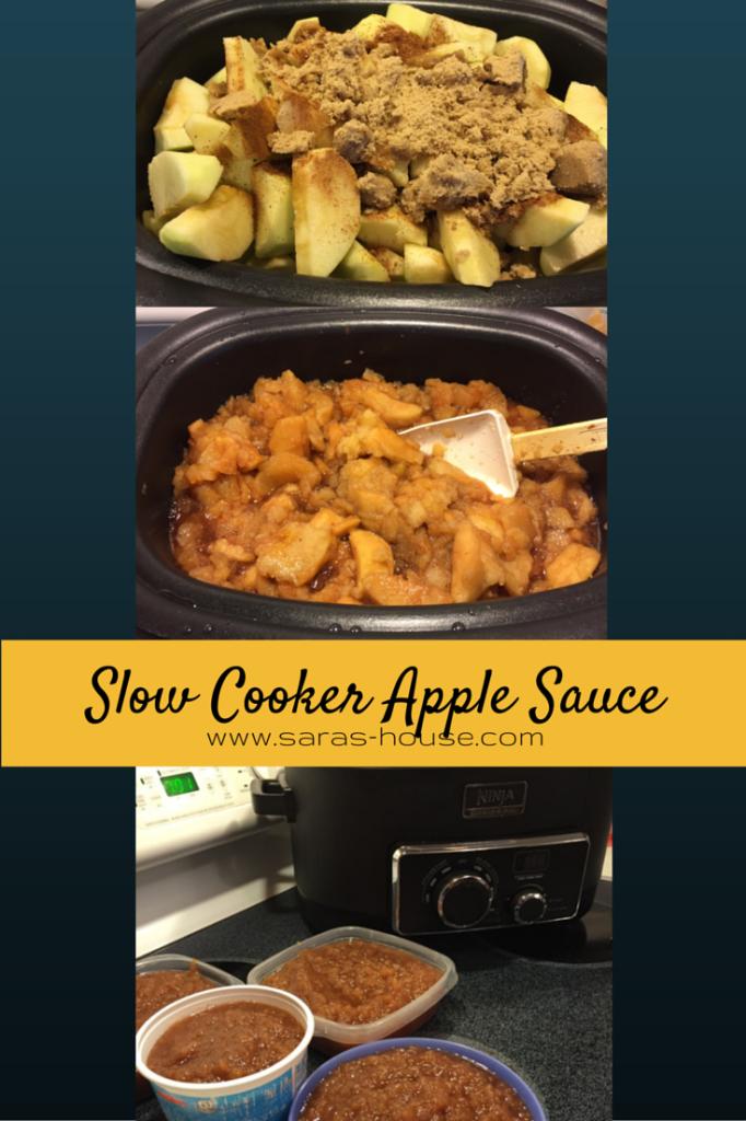 Slow Cooker Apple Sauce @ninjakitchen #slowcooker #nationalapplemonth
