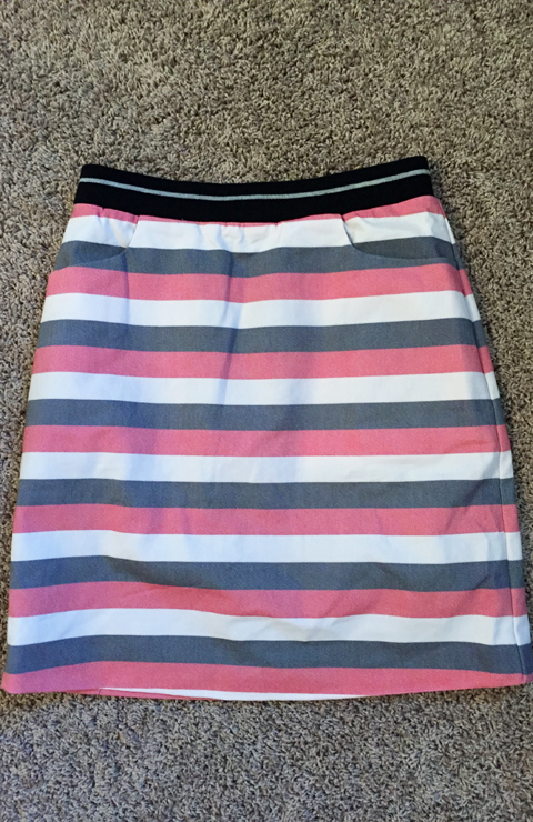 41Hawthorn Iris Striped A-Line Skirt-www.saras-house.com