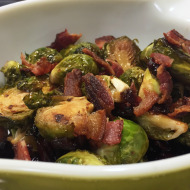 Family Favorites-Holiday Side Dishes: Glazed Brussel Sprouts with Bacon and Cranberries