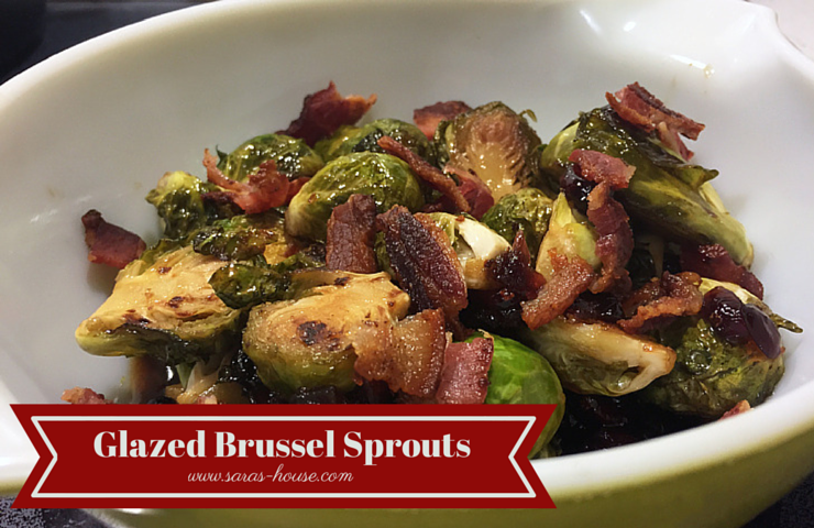 Glazed Brussel Sprouts with Bacon and Cranberries-www.saras-house.com