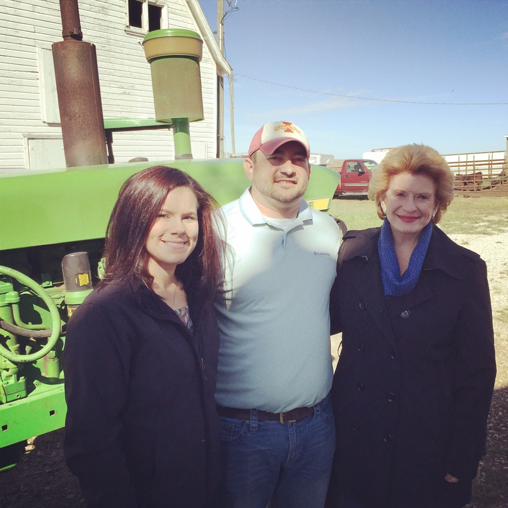 Senator Stabenow visiting Ross farm in Southwest Iowa