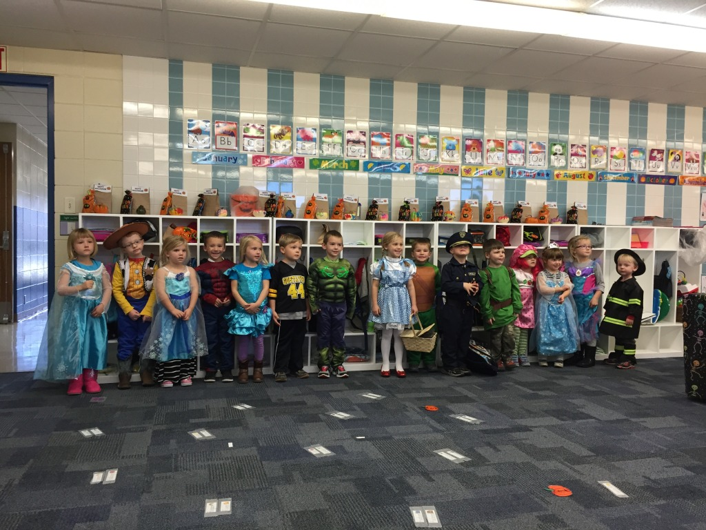 Hudson's Pre-K Class in Halloween Costumes