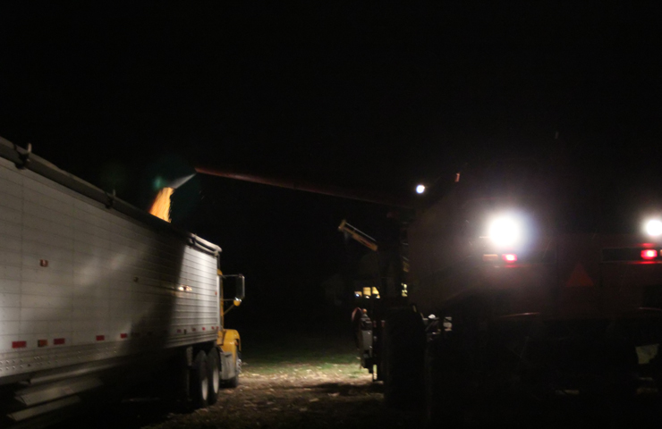 Loading Semi at Night-Harvest-www.saras-house.com