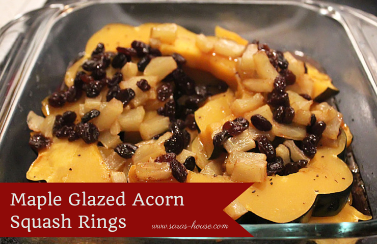Maple Glazed Acorn Squash Rings-www.saras-house.com