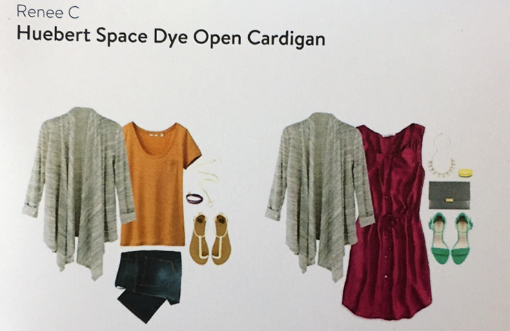 Renee C Huebert Space Dye Open Cardigan Idea Card-www.saras-house.com