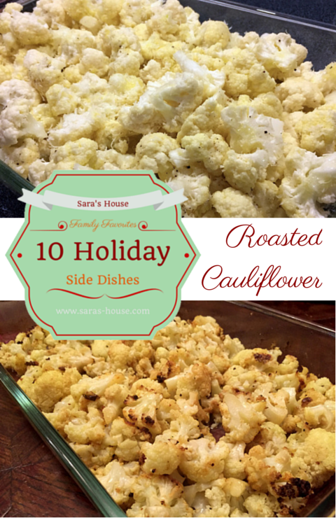 Roasted Cauliflower-www.saras-house.com