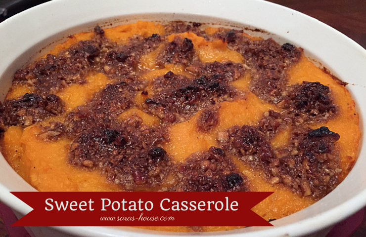 Sweet Potato Casserole-www.saras-house.com