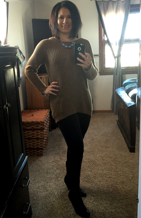 Market and Spruce Trinity Waffle Knit Sweater Tunic-Stitch Fix #8 www.saras-house.com