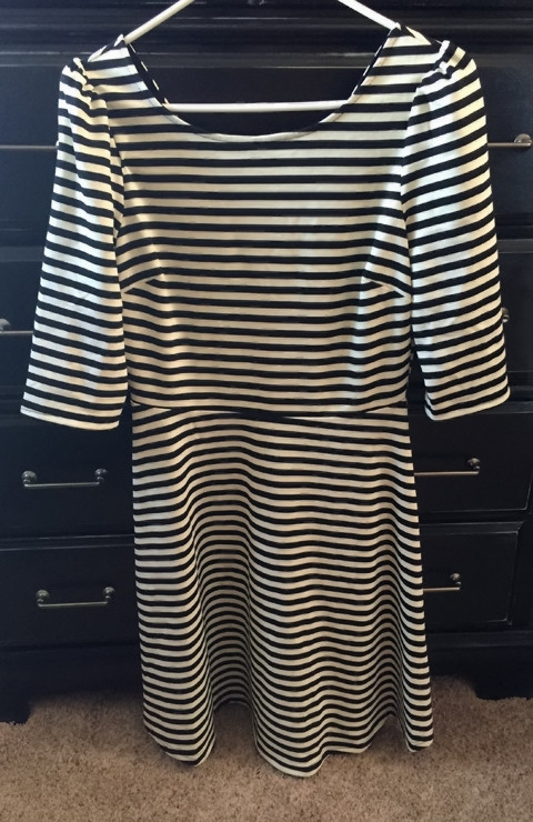 Pixley Kathy Striped Fit & Flare Dress-Stitch Fix #8 www.saras-house.com