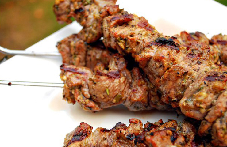 Lamb Kebabs with Greek Salad-Guilty Kitchen