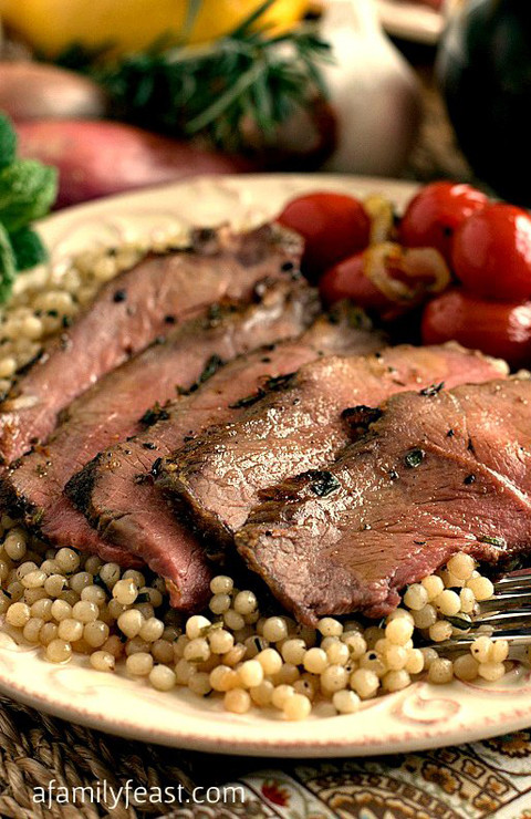 Roasted Lamb London Broil Style-A Family Feast
