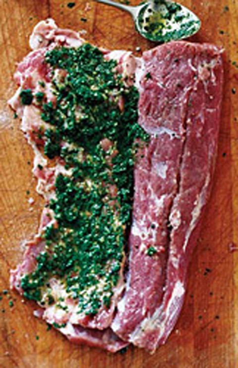 Skillet-Roasted Lamb Loins with Herbs-Food and Wine