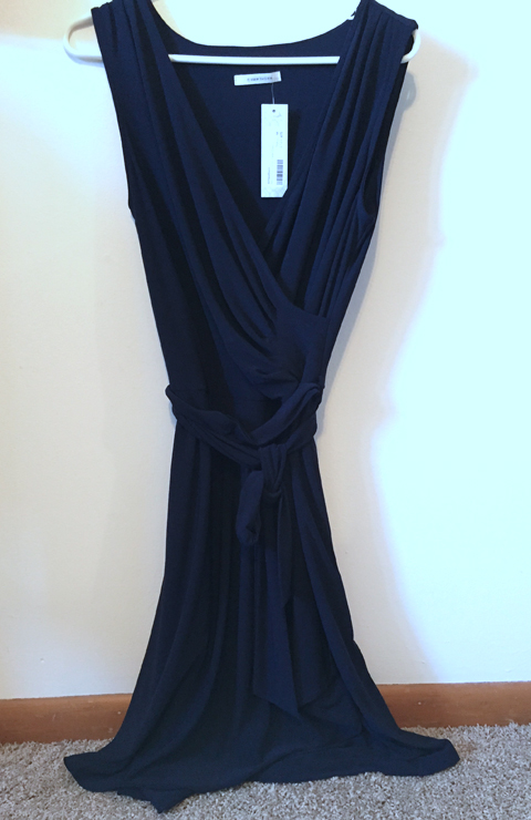 41Hawthorn Rocco Faux Wrap Tank Dress in Navy at www.saras-house.com