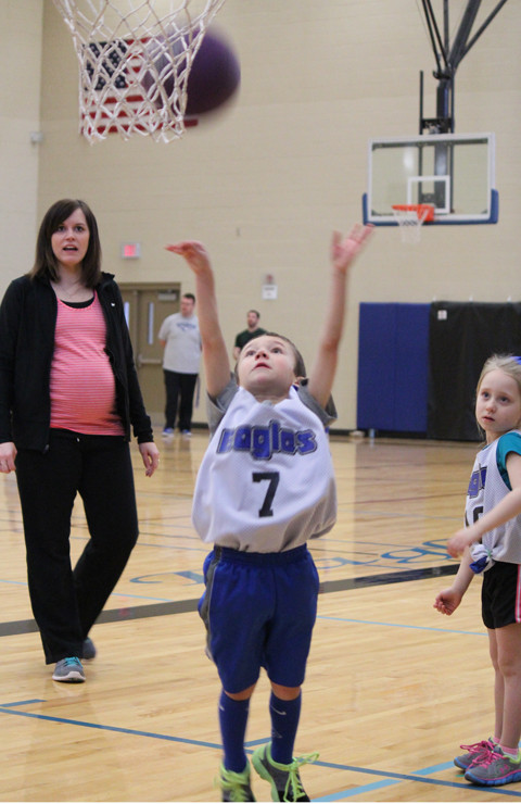 Hudson Shooting the Basketball