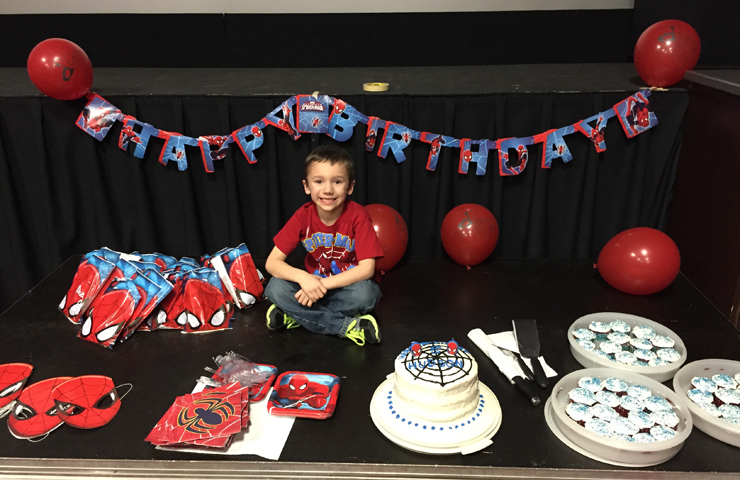 Hudson's 5th Birthday at a Movie Theater