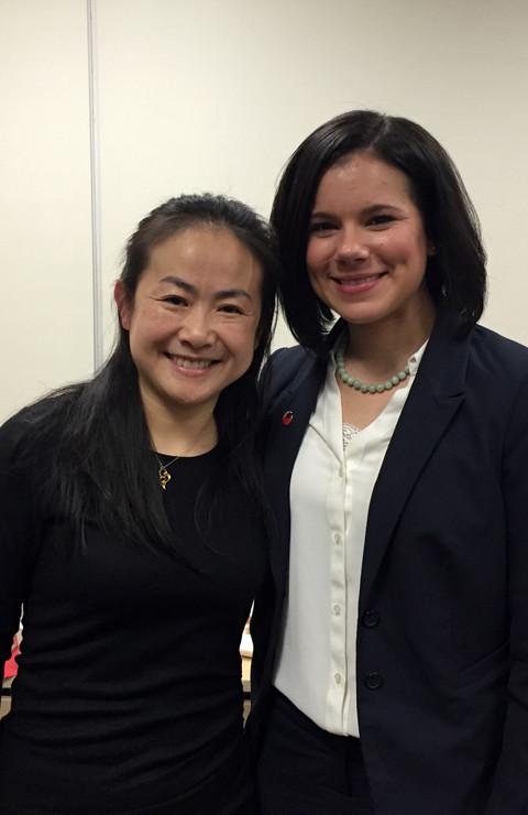 Ma Jie and Sara in China