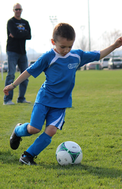 Hudson Playing Soccer1