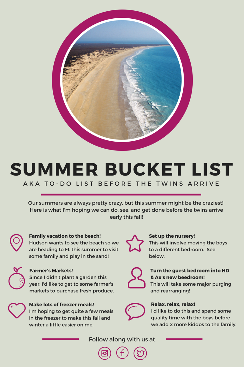 end of the school year and summer bucket list