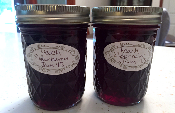 Elderberry Peach Preserves