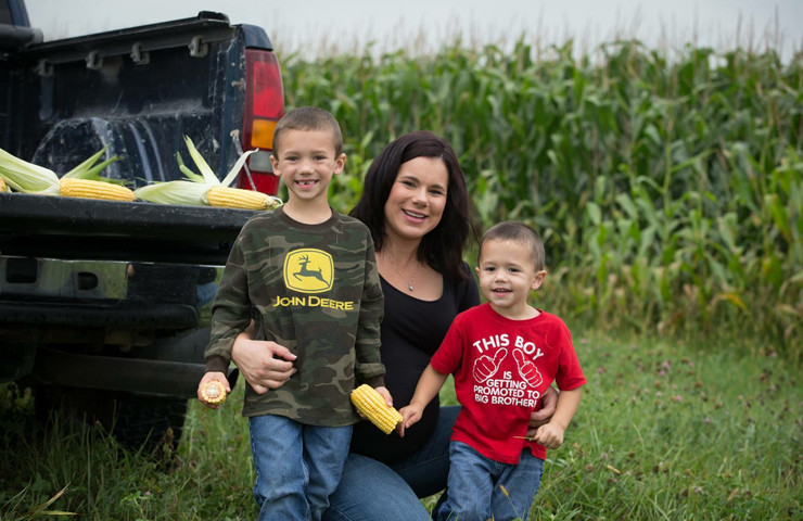 Sara and Her Boys on the Family Farm