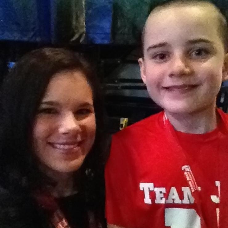 Jack Hoffman & Sara #teamjack #teamjackfoundation #childhoodcancerawarenessmonth #wontbebeat
