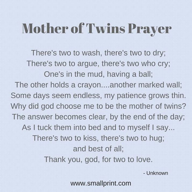 Mother of Twins Prayer