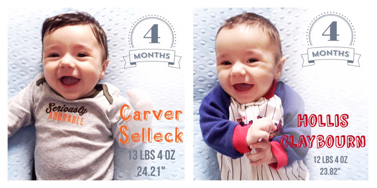 Carver & Hollis at 4 Months Old