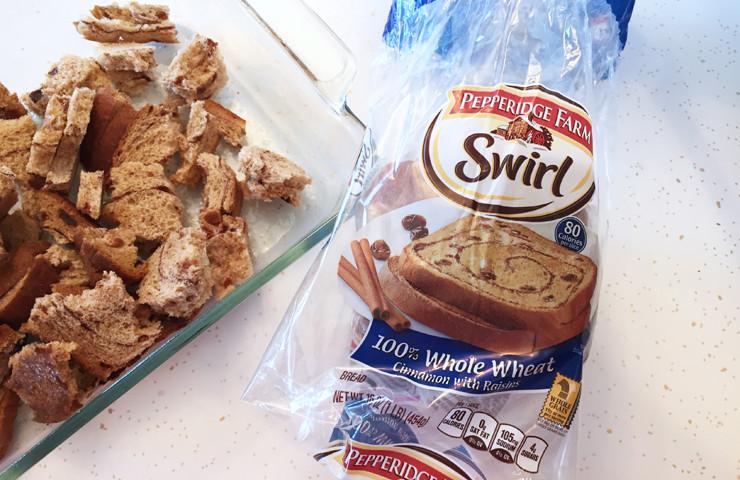 Easy Cinnamon Raisin 100% Whole Wheat Egg Bake