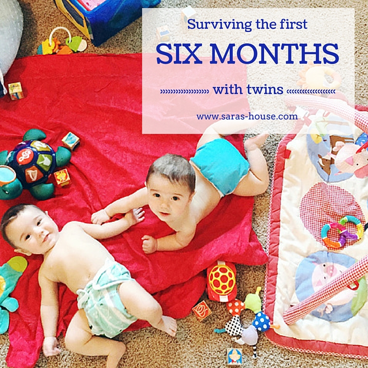 Surviving the first six months with twins at www.saras-house.com