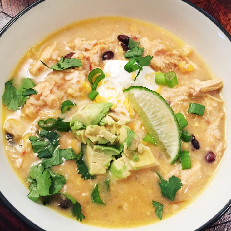Slow Cooker Chicken Tortilla Soup at www.saras-house.com
