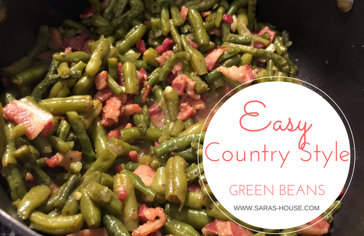 Easy Country Style Green Beans at www.saras-house.com